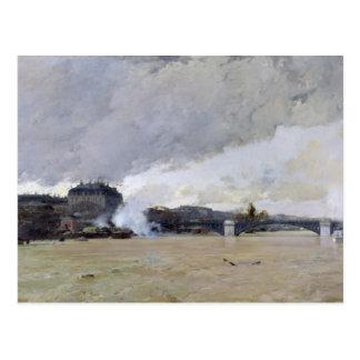 Die Überschwemmung der Seines, c.1903 Postkarte