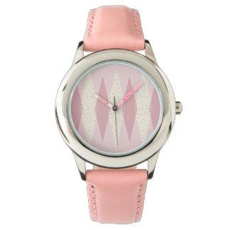 Die Uhr Mitte- des Jahrhundertsdes modernes rosa