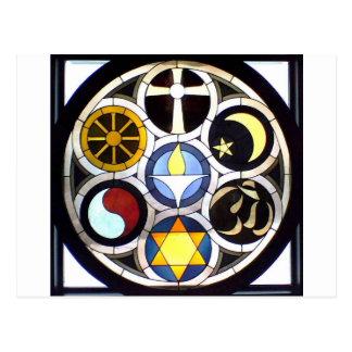 Die unitarische universalistische Kirche Rockford, Postkarte