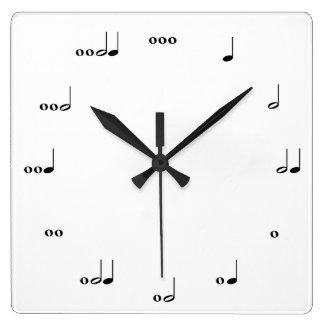 Die ursprüngliche Musik-Anmerkungs-Uhr Wanduhren
