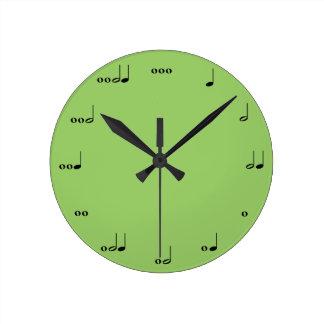 Die ursprüngliche Musik-Anmerkungs-Uhr Runde Wanduhr