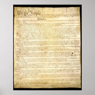 Die US-Konstitution Poster