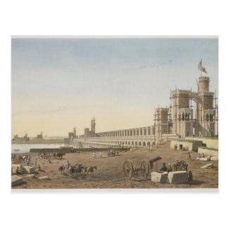 Die Verdammung über dem Nil, das Gebäude des Postkarte