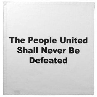 Die vereinigten Leute werden nie besiegt Serviette