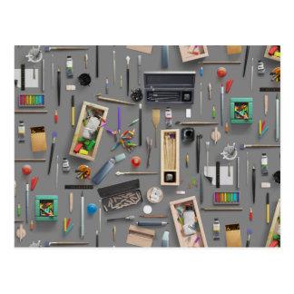 Die Versorgungen des Künstlers Postkarte