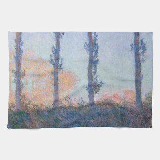 Die vier Bäume durch Claude Monet Handtuch