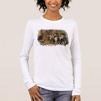 Die vier Jahreszeiten, Herbst (Öl auf Leinwand) Langarm T-Shirt