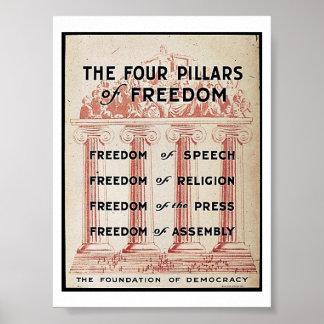 Die vier Säulen der Freiheit Poster