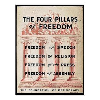 Die vier Säulen der Freiheit Postkarte