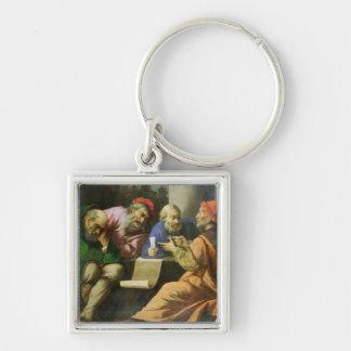 Die vier Väter der Kirche (Öl auf der Leinwand Schlüsselanhänger