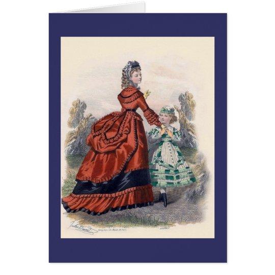 Die viktorianische Mode der Ära-Frauen Grußkarte