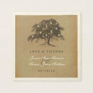 Die Vintage alte Eichen-Baum-Hochzeits-Sammlung Servietten