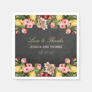Die Vintage Blumentafel-Hochzeits-Sammlung Servietten