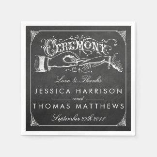 Die Vintage Heirat-Tafel-Hochzeits-Sammlung Servietten