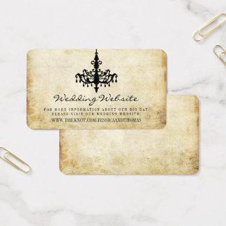 Die Vintage Leuchter-Hochzeits-Sammlungs-Website Visitenkarte