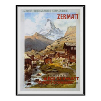 Die Vintage Schweiz - Poster