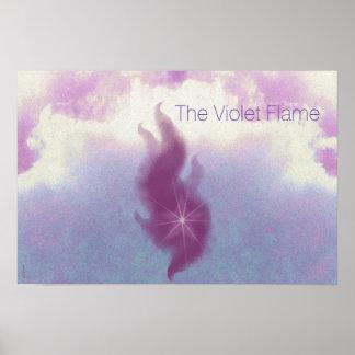 Die violette Flammen-Altar-Kunst Poster
