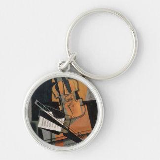 Die Violine, 1916 Silberfarbener Runder Schlüsselanhänger