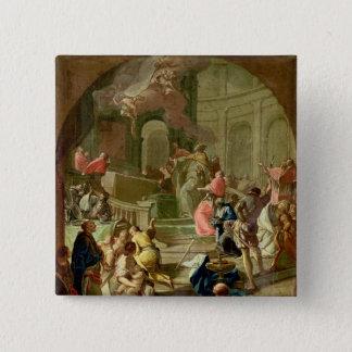 Die Vision von St. Benedict, c.1760 Quadratischer Button 5,1 Cm