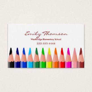 Die Visitenkarte des farbigen Bleistift-Lehrers