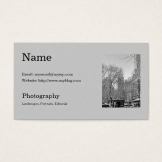 Die Visitenkarte-Schablone des Fotografen Visitenkarte