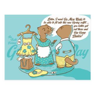 Die Wahrheit hinter Groundhog Day-Postkarte Postkarte