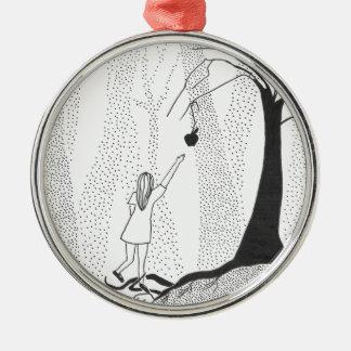 Die Waldhunger Rundes Silberfarbenes Ornament