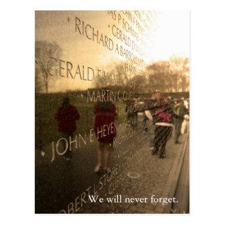 Die Wand - Volkstrauertag-Wochenenden-Ausgabe Postkarte