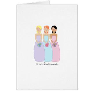 die wedding Modbrautjungfern DANKEN IHNEN Karte 1