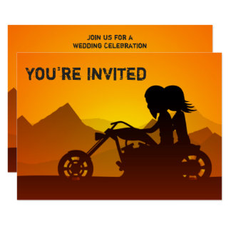 Die Wedding Paar-Reitmotorrad-Berge laden ein Karte