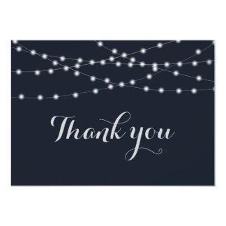 Die wedding Schnurlichter danken Ihnen Karte