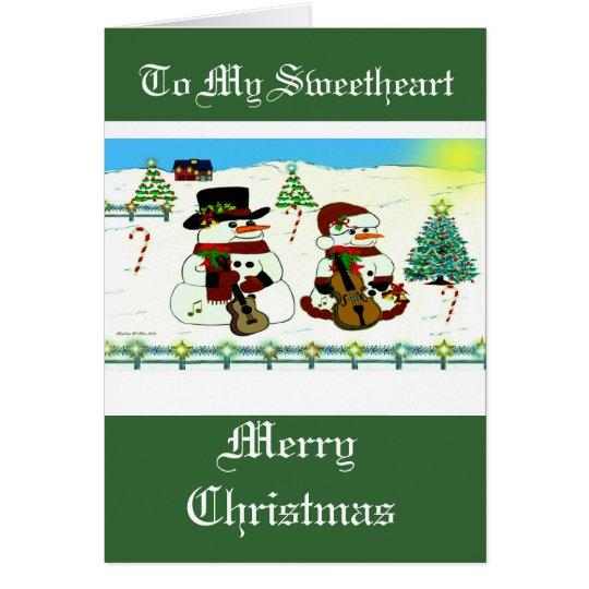 Die WeihnachtsSchneemann-Sammlung Karte