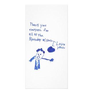 Die Weise eines Kindes zu sagen danken Ihnen Foto Karte