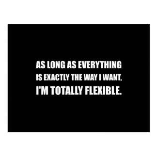 Die Weise will ich total flexibles Postkarte