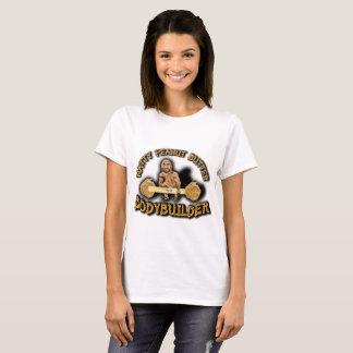 """Die weiße T """"Natty der Erdnussbutter-Bodybuilder-"""" T-Shirt"""