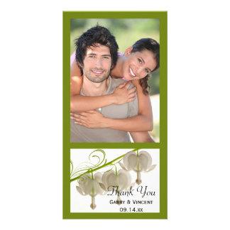 Die weißen Wedding Herz-Blumen danken Ihnen Karte