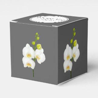 Die weißen Wedding Orchideen danken Ihnen Geschenkschachtel