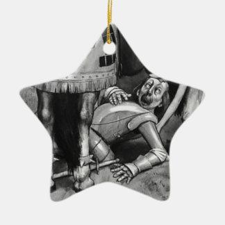 Die weißer Ritter-Fälle Keramik Ornament