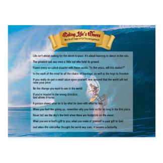 Die Wellen des Reitlebens - Unterstützung u. Postkarte