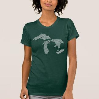 Die Wellen-Entwurf Michigan-Frauen T-Shirt