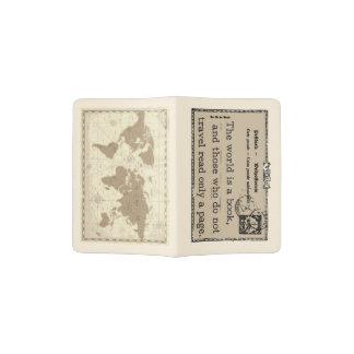 Die Welt ist ein Buch mit Karten-Pass-Halter Passhülle