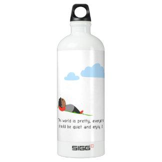 Die Welt ist hübsch Wasserflasche