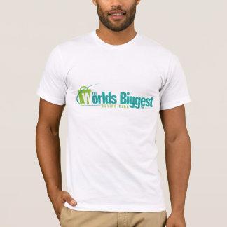 Die Welten am größten: Angepasstes T-Shirt Weiß