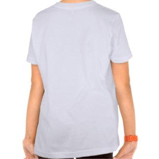 Die Welten am größten: Weiß der Mädchen-T mit Halt T Shirt