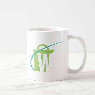 """Die Welten am größten: Weiße """"w-"""" Tasse"""