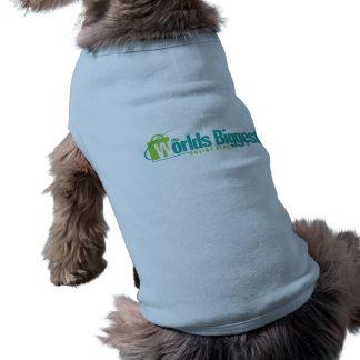 Die Welten am größten: Welpen-Mantel-Blau Hund T Shirt
