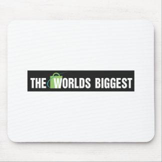 Die Weltgrößte Mausunterlage: Schwarzes u. Weiß Mousepad