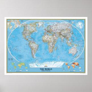 Die Weltkarte politisch Poster