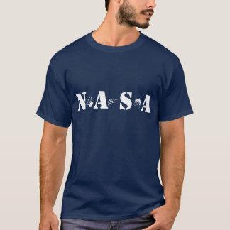 Die Weltraumzeitalter NASA-Marine-Blau-T-Shirt T-Shirt