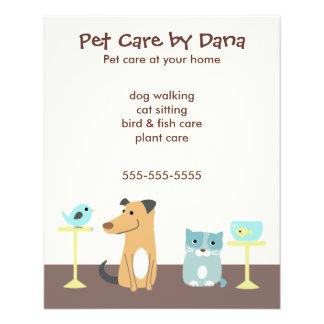 Die Werbung des Haustier-Modells Custom Flyer